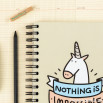 "Caderno colorido ""Nothing is impossible"" (ENG)"