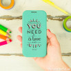 Capa mint para Samsung Galaxy S4 - All you need is love and wifi