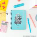 Set de agenda sketch 2020-2021 semanal - 365 dias para viver em grande