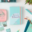 Kit de agenda clássica pequena 2021-2022 diária - Sonha e vai em frente
