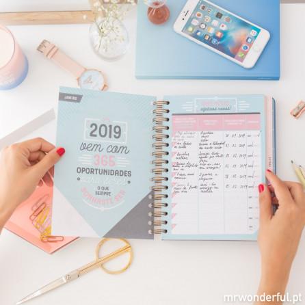 Agenda clássica 2018-2019 Vista semanal - As mil e uma coisas que vou conseguir fazer (PT)