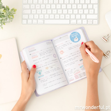 Agenda anual pequena 2018 Vista semanal - O melhor da vida começa agora (PT)