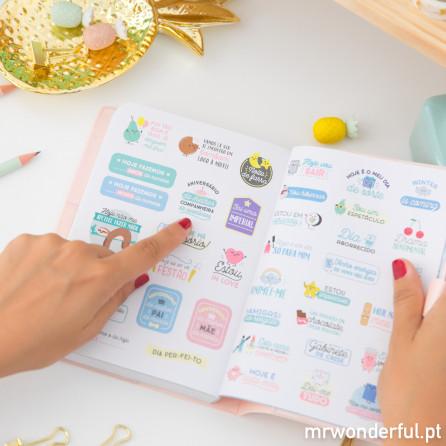 Agenda anual pequena 2018 Vista diária - Sonha sem limites (PT)