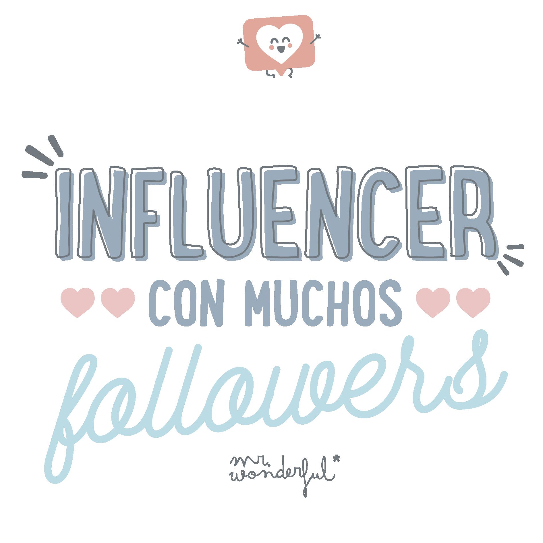 Influencer con muchos followers