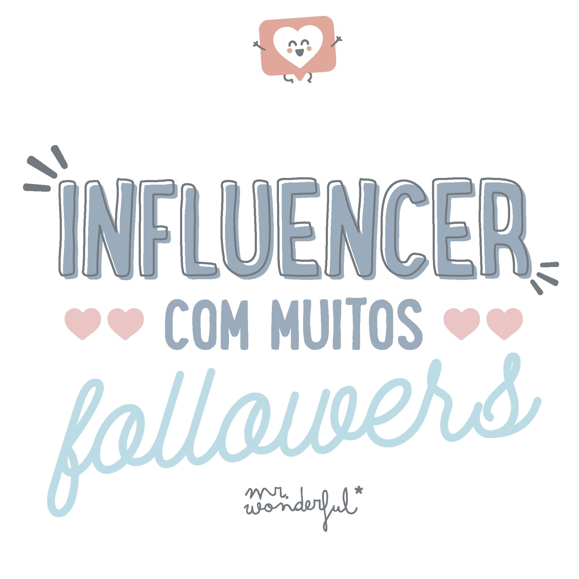 influencer com  muitos followers