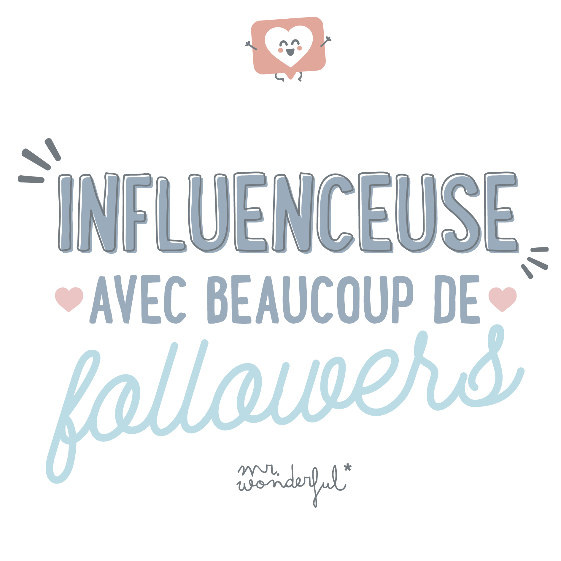 Influenceuse avec beaucoup de followers