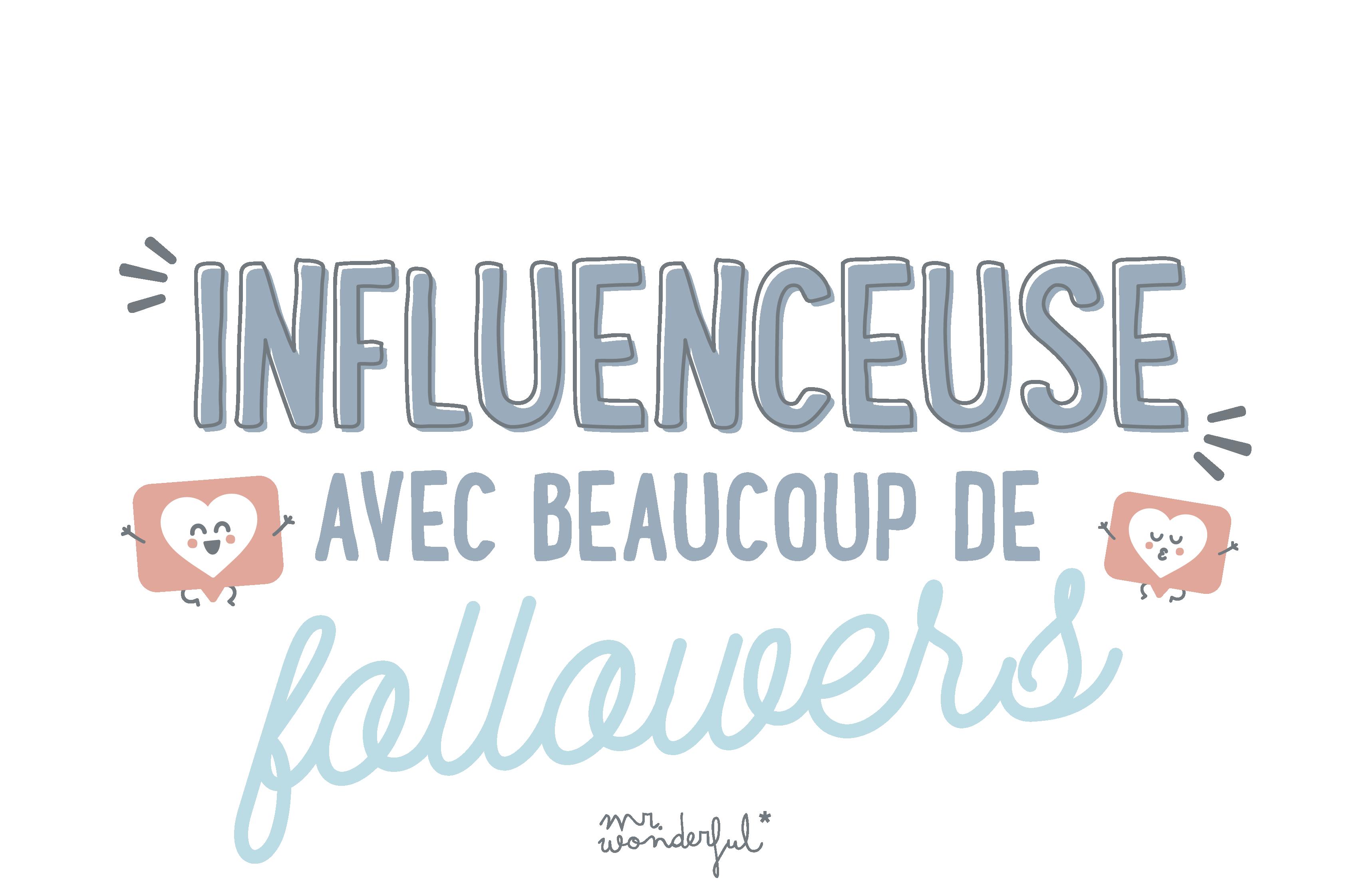 Influenceuse avec beaucoup de followers