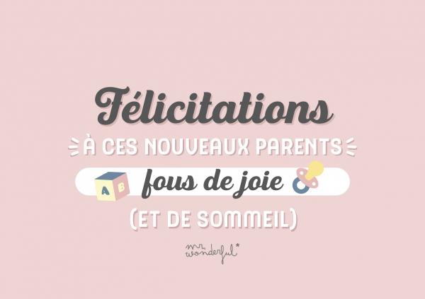 Félicitations à ces nouveaux parents fous de joie (et de sommeil)