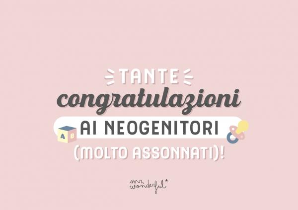 Congratulazioni ai neogenitori