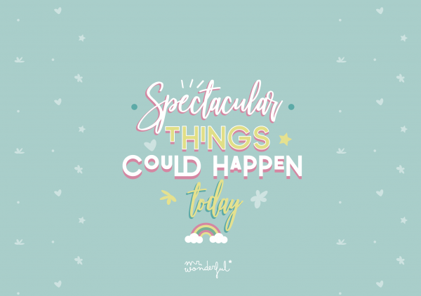 Spectacular things could happen today