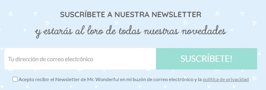 Newsletter de Mr. Wonderful