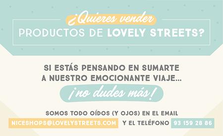 Banner de información para poder vender productos Lovely Streets